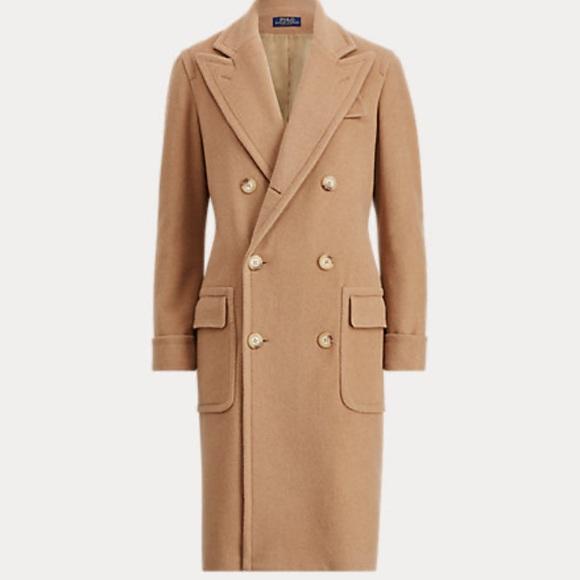 Ralph Lauren 💯 Camel Hair Lined Long Coat Sz. 4